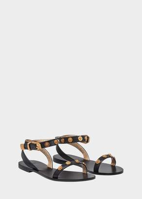 Versace Medusa Stud Tribute Sandals