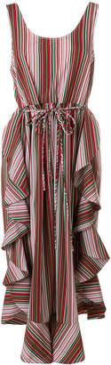 Isa Arfen striped flared midi dress