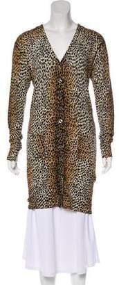 Dolce & Gabbana Virgin Wool Cheetah Print Cardigan