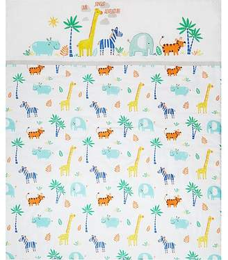 George Home Tropical Safari Print Cot & Cotbed Quilt