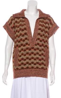 Missoni Metallic Short Sleeve Knit Top