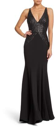 Dress the Population Marlene Sequin Trumpet Gown