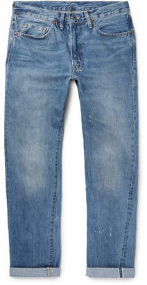 Levi's 1954 501 Distressed Selvedge Denim Jeans