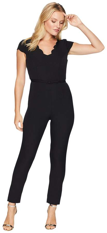 Adrianna Papell Petite Stretch Crepe Jumpsuit Women's Jumpsuit & Rompers One Piece