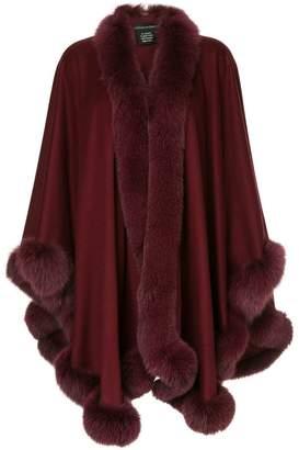 Sofia Cashmere fur trimmed cape
