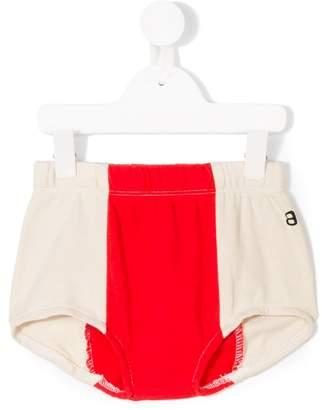 Bandy Button color block shorts