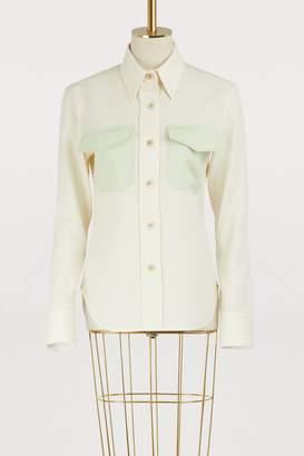 Calvin Klein Virgin wool uniform shirt