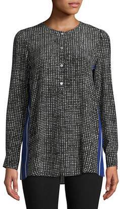 Marella Doll Houndstooth Silk Blouse