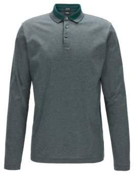 BOSS Hugo Mercerized Cotton Polo Shirt, Regular Fit Pado XXL Open Green