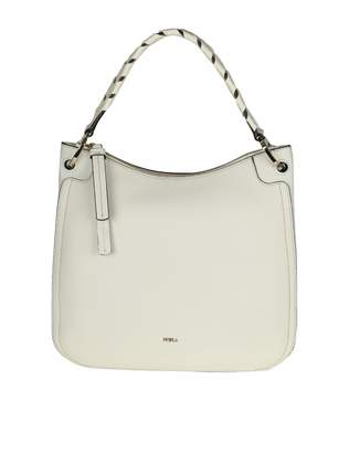 Furla rialto M Hobo Shoulder Bag In Ice Color Leather