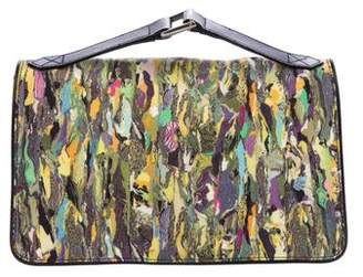 Dries Van Noten Leather-Trimmed Printed Handle Bag