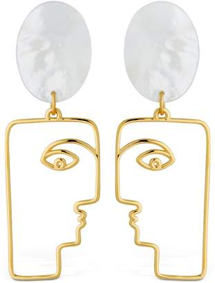 MOP Face Earrings