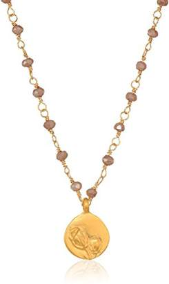 Satya Jewelry Mystic Dark Champagne Gold Wrapped Chain Necklace