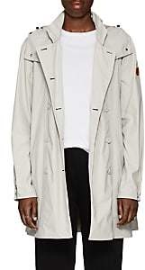 Save The Duck SAVE THE DUCK WOMEN'S HOODED RAIN COAT-BEIGE, TAN SIZE 2