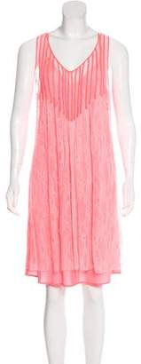 Calypso Pleated Lace Dress
