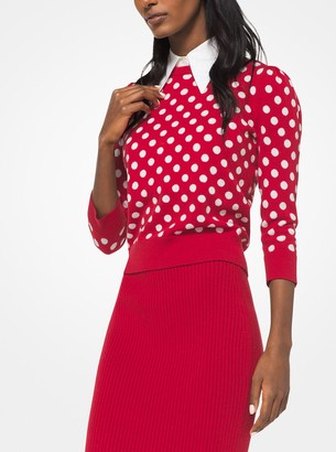 Michael Kors Coin Dot Cashmere Intarsia Pullover