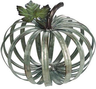 Transpac Metal Large Silver Harvest Rustic Ring Pumpkin