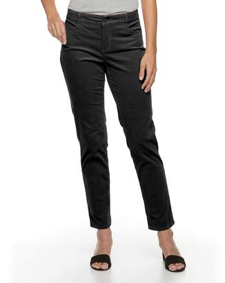 Croft & Barrow Women's Tummy-Slimming Straight-Leg Corduroy Pants