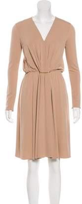 Lanvin Long Sleeve Mini Dress