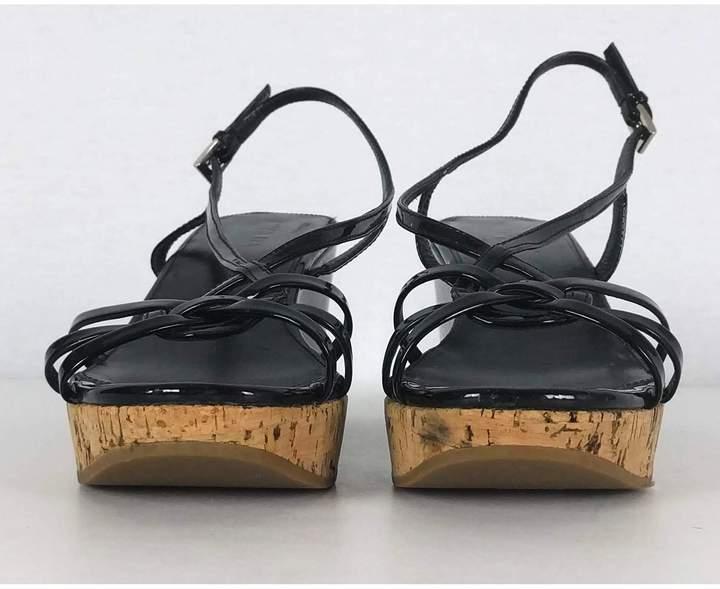 Prada- Patent Leather Wedges Sz 8