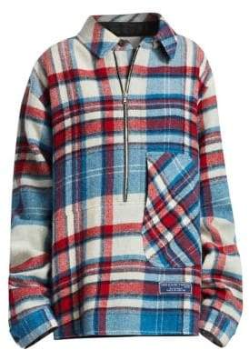 We11Done Plaid Wool Pullover Shirt