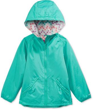 London Fog Pom-Pom-Trim Hooded Jacket, Toddler & Little Girls (2T-6X) $46 thestylecure.com