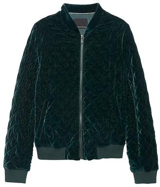 Banana Republic Velvet Quilted Bomber Jacket