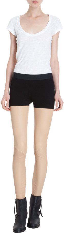 Mason by Michelle Mason Combo Leather Leggings