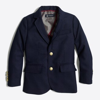 J.Crew Factory Boys' gold-button blazer