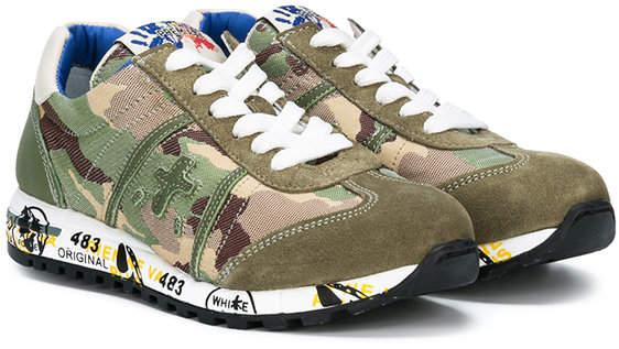 Premiata Kids camouflage print sneakers