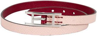 One Kings Lane Vintage HermAs Pink & Burgundy Wrap Bracelet - Vintage Lux