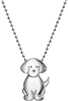"""Alex Woo Silver Signs Dog Necklace, 16"""""""