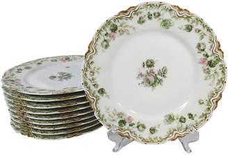 One Kings Lane Vintage Limoges Lunch / Salad Plates Set of 10 - Stucco Mansion Antiques
