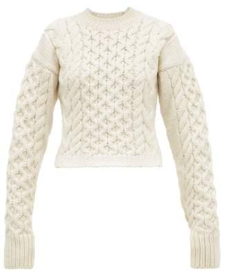 Joseph Cable Knit Wool Blend Sweater - Womens - Cream