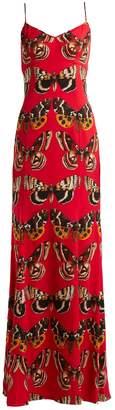 Dolce & Gabbana Butterfly-print satin gown