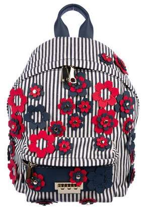 Zac Posen Striped and Floral Backpack