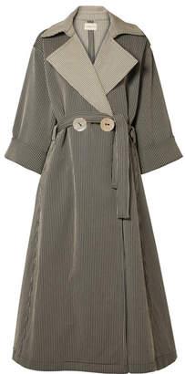 Simon Miller Casco Oversized Striped Cotton-blend Coat - Black