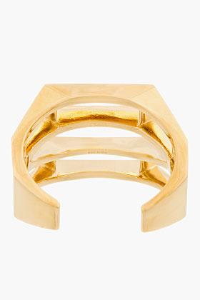 Chloé Gold Geometric cut out Bianca Cuff