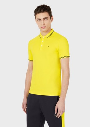 Emporio Armani Polo Shirt In Stretch Cotton