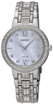 Seiko Solar Crystals Quartz SUP359 Watch