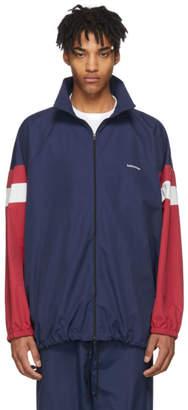 Balenciaga Navy Logo Track Jacket