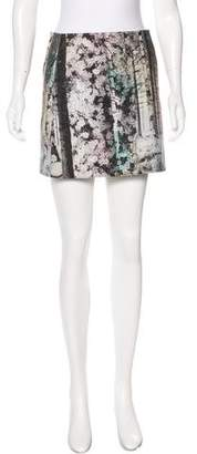 Tibi Printed Mini Skirt