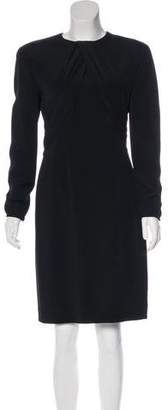 Giorgio Armani Long Sleeve Mock Neck Dress