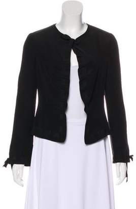 Armani Collezioni Ribbon-Accented Long Sleeve Jacket
