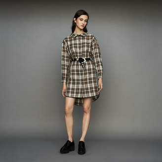 Maje Plaid shirt dress