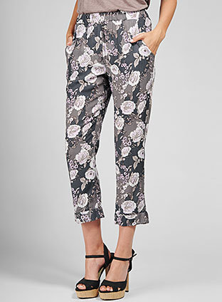 Rosa Flora Cropped Pant
