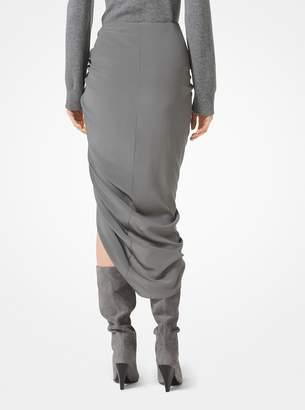 Michael Kors Crepe De Chine Sarong Skirt