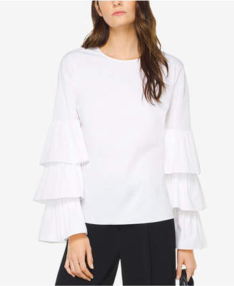 Michael Kors Tiered Ruffle-Sleeve Top