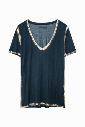 Zadig & Voltaire Tino Gold T-Shirt