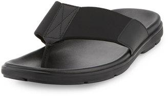 Kenneth Cole Nite Lite Leather/Neoprene Thong Sandal, Black $89.10 thestylecure.com